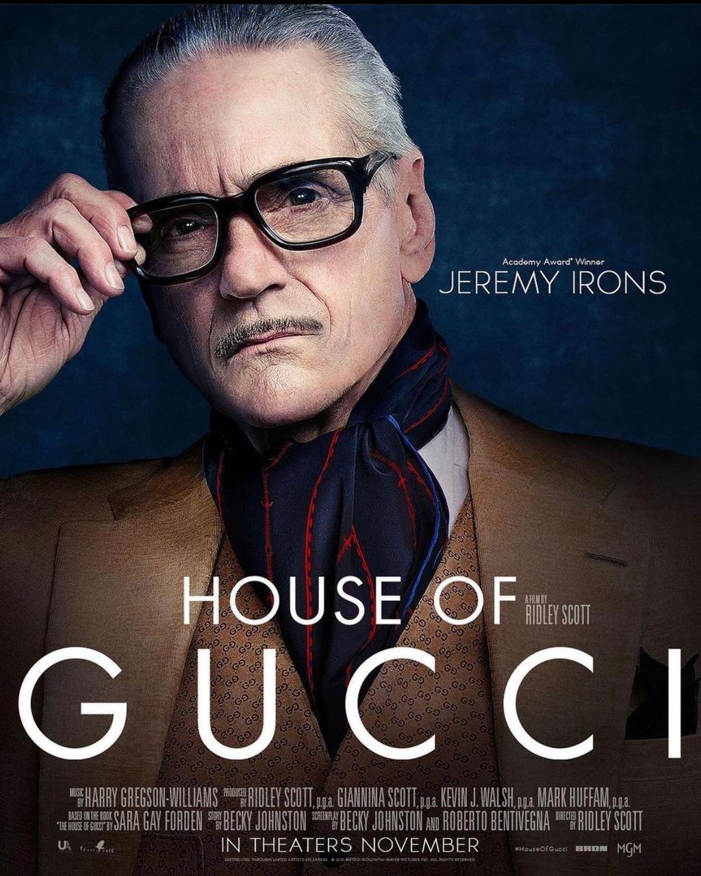 Jeremy Irons em 'House Of Gucci (Foto: Instagram/ Reprodução)