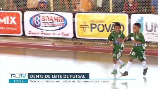 Festival Dente de Leite de Futsal: jogos agitam seletiva em Itatiaia