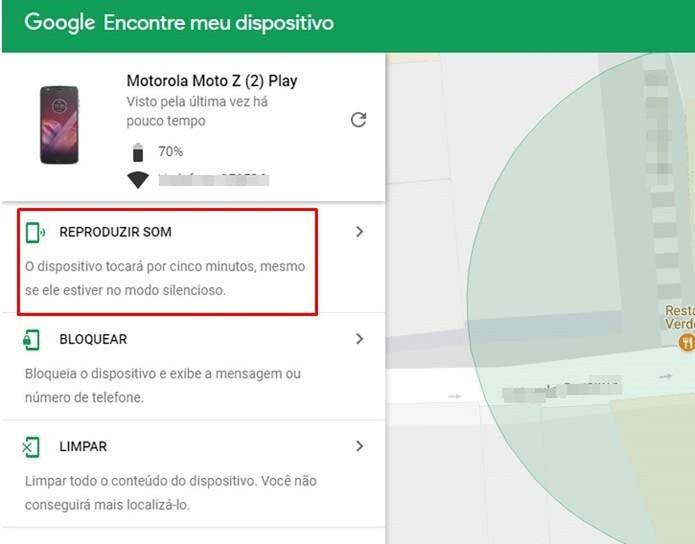 O serviço do Google permite que aparelho toque mesmo no modo silencioso (Foto: Reprodução/Taysa Coelho)