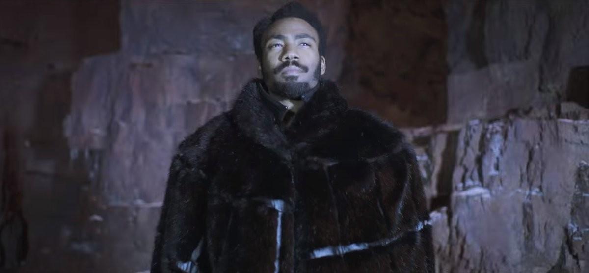 Glover como Lando Calrissian em Solo: Uma História Star Wars (Foto: Divulgação)