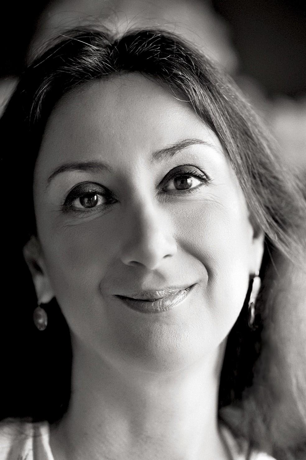 -  Imagem de arquivo mostra a jornailsta Daphne Caruana Galizia  Foto: The Malta Independent via AP
