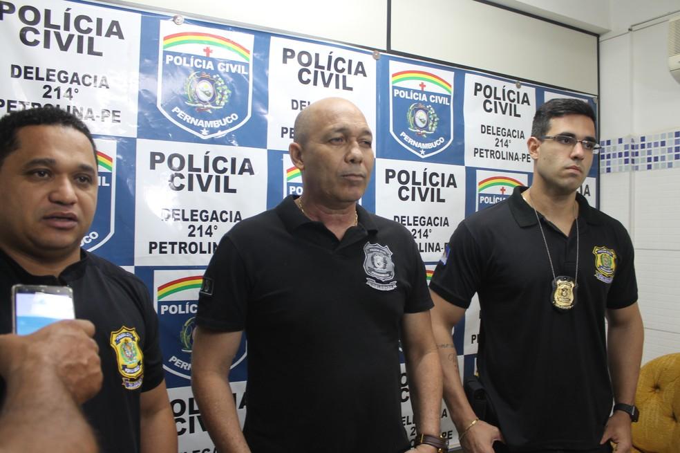 Delegados apresentaram detalhes do caso — Foto: Emerson Rocha