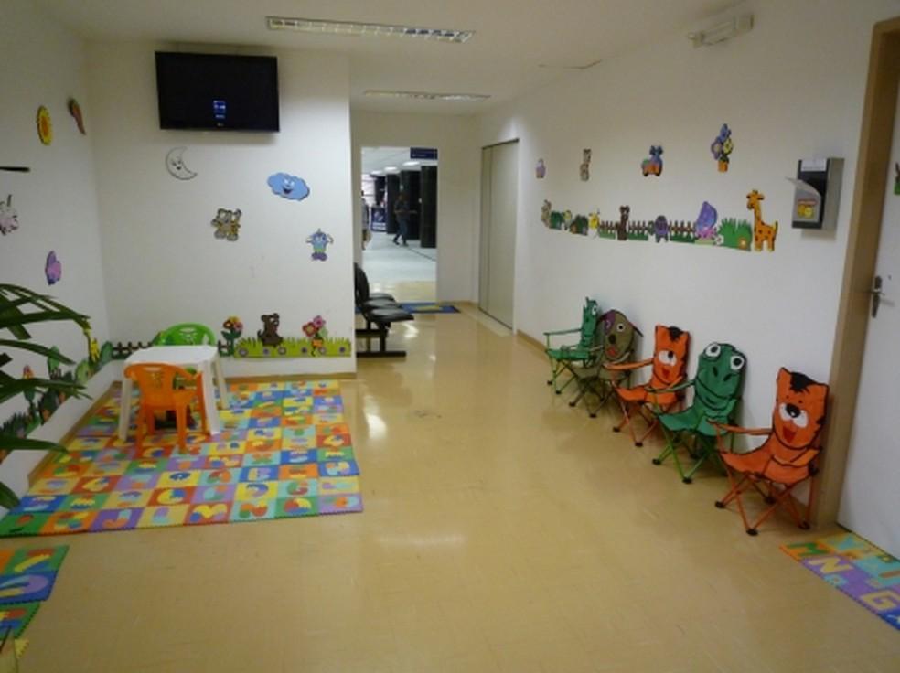Área para atendimento de vítimas de violência sexual e física (Foto: Pérola Byington/divulgação)