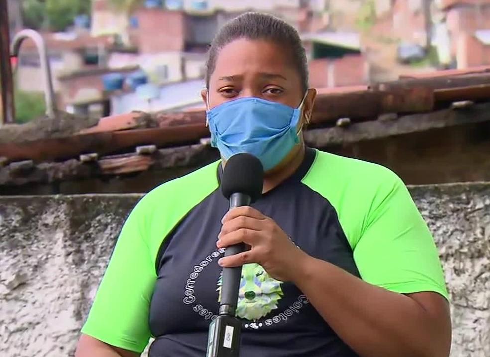 Mirtes Renata é a mãe de Miguel Otávio, que morreu após cair de prédio no Recife — Foto: Reprodução/TV Globo
