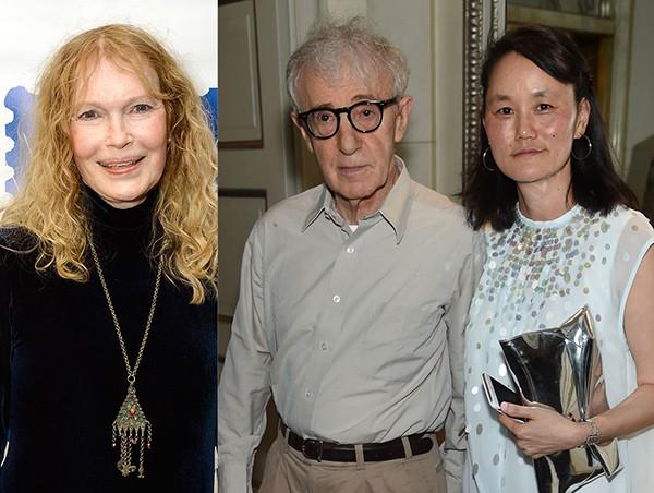 Woody Allen, Mia Farrow e Soon-Yi Previn (Foto: Getty Images)
