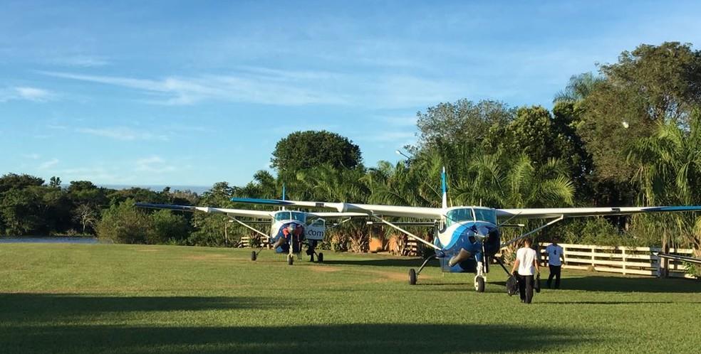 Voo inaugural saindo de Primavera do Leste — Foto: Asta/Divulgação