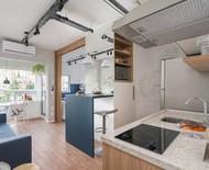 Soluções de marcenaria deixam apartamento de 26 m² bem resolvido