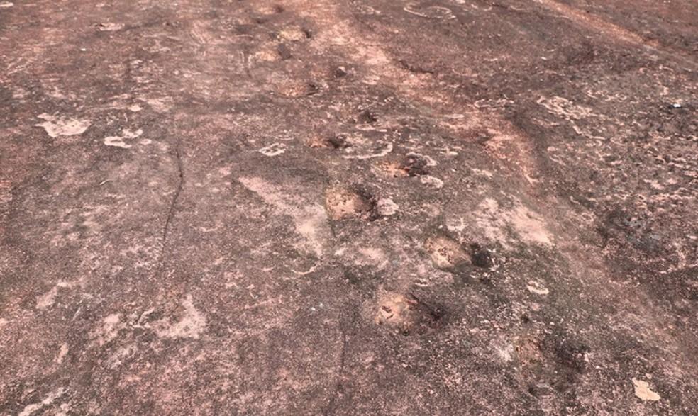 Confirmação de sítio arqueológico só poderá ser feita após estudos científicos — Foto: Prefeitura de Poxoréo/ Assessoria