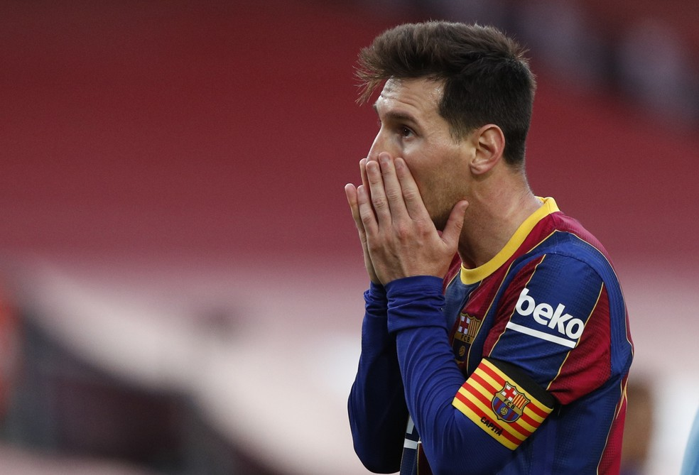 Lionel Messi Barcelona x Celta — Foto: Reuters