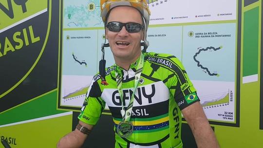 Atleta com braço amputado encara de bicicleta os 72km do GFNY Brasil