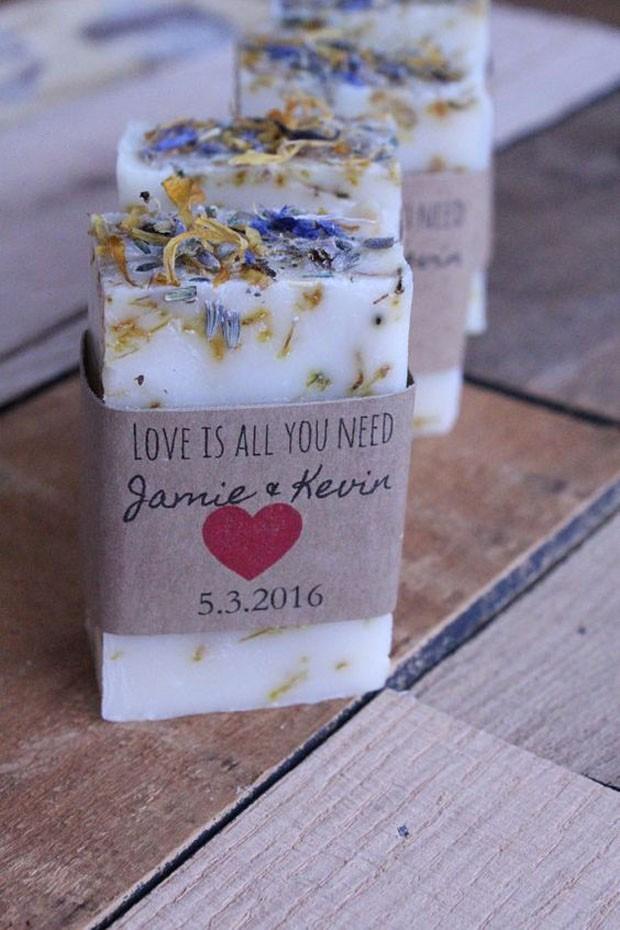 Lembrancinhas de casamento: Sabão para as mãos (Foto: Pinterest/Reprodução)