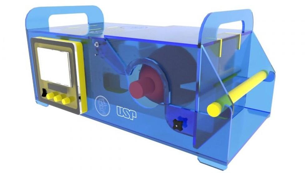 Respirador pulmonar desenvolvido pela Poli USP foi aprovado em avaliações técnicas e em testes com humanos e animais — Foto: Reprodução/Poli USP