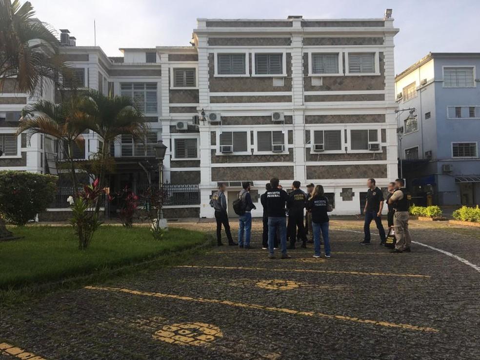 PF faz operação em  São Paulo, Santos, Barueri, Guarujá, Rio de Janeiro, Fortaleza e Brasília — Foto: Receita Federal/Reprodução