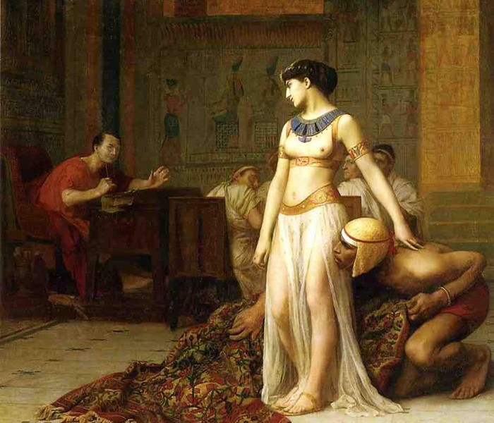 Pintura de Cleópatra e César por Jean-Léon Gérôme (Foto: Wikimedia Commons)