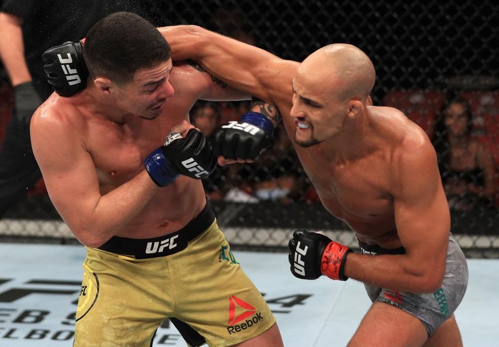 Geraldo de Freitas (dir.) lutaria no UFC Londres marcado originalmente para sábado — Foto: Getty Images