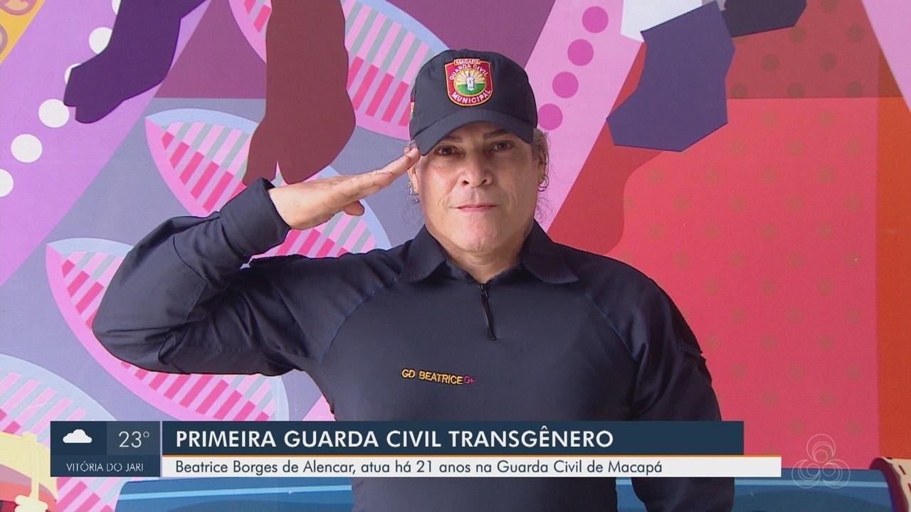 Primeira Guarda Civil Transgênero de Macapá, Beatrice Borges atua há 21 anos na corporação