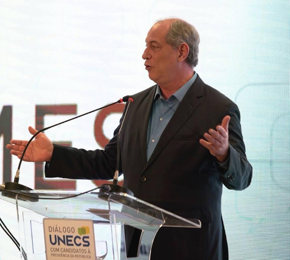 Ciro Gomes, candidato à Presidência da República pelo PDT (Foto: Reprodução/ Facebook)
