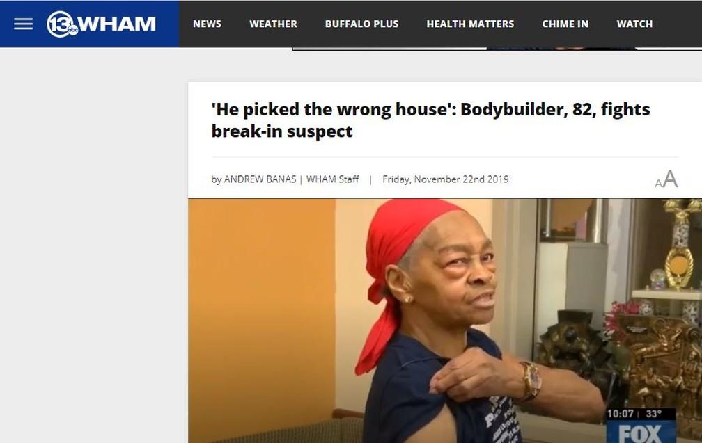 Willie mostra os músculos em entrevista à rede de televisão WHAM. — Foto: Reprodução/Site 13WHAM