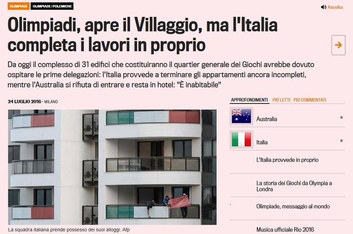 Manchete da Gazzeta dello Sport diz que Itália trabalha por conta própria (Foto: Reprodução)