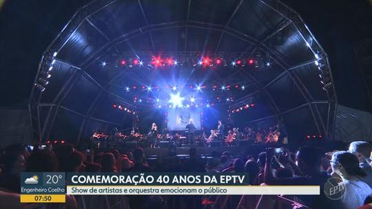 EPTV 40 anos: Praça Arautos da Paz sediou show de final de ano da emissora