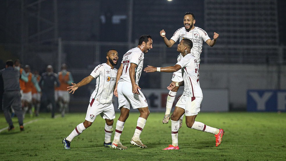 Nenê, Samuel Xavier, Caio Paulista, Yago, Fluminense — Foto: Lucas Merçon / Fluminense FC