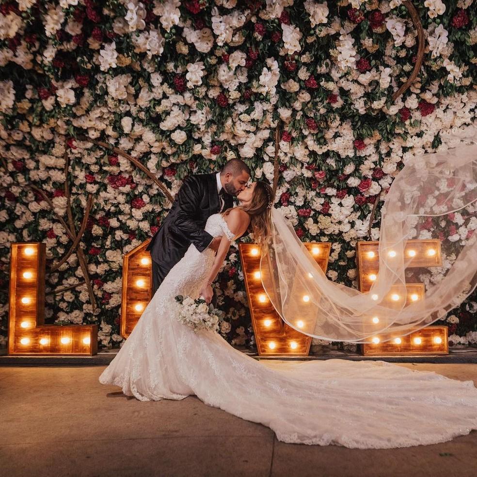 Projota e Tâmara estão casados há dois anos — Foto: Reprodução/Instagram