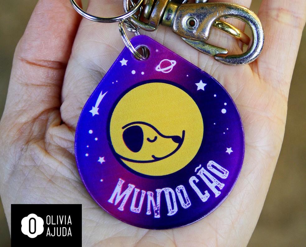 Chaveiro da marca Olivia Ajuda — Foto: Arquivo Pessoal/ Patrícia Weiss
