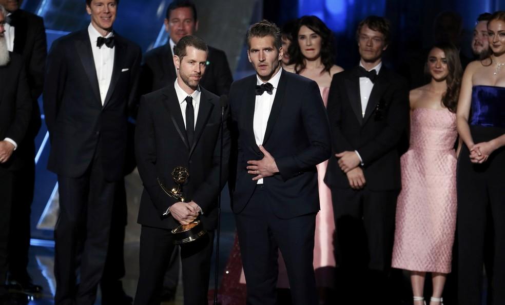 D.B. Weiss e David Benioff, produtores de 'Game of Thrones', vão escrever nova série para a HBO (Foto: REUTERS/Lucy Nicholson)
