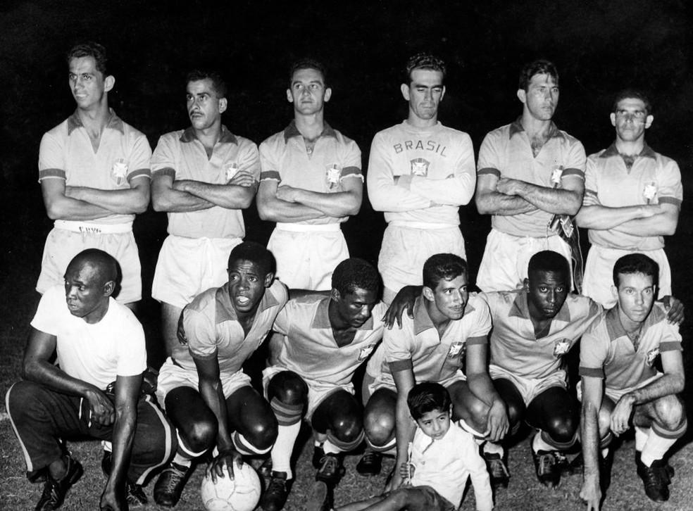 Seleção brasileira que disputou a Copa América de 1959 — Foto: Divulgação / CBF