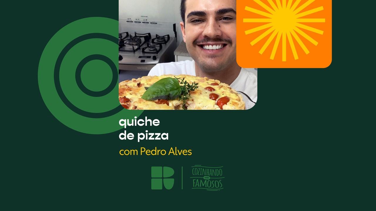 Pedro Alves ensina a fazer Quiche de Pizza