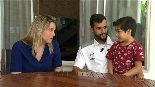 Fernanda Gentil conhece o lado família do ceifador Henrique Dourado