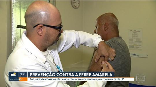 Campanha de vacinação da febre amarela imuniza 950 mil na Zona Norte de SP