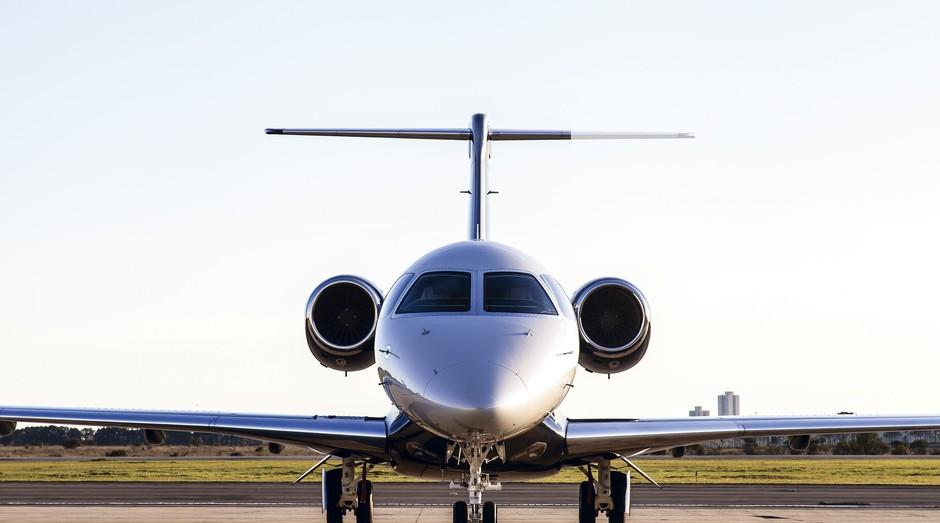 Embraer Legacy 450. Empresa brasileira conta com o auxílio de pequenas empresas para ser gigante da aviação (Foto: Divulgação)