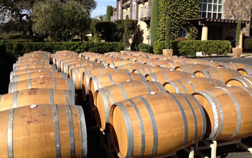 Barris de vinho da vinícola Paradise Ridge, em Santa Rosa, Califórnia (Foto: Reprodução/ Facebook/ Paradise Ridge Winery)