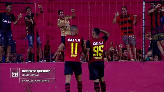 Redação AM: Roberto Queiroz,da Rádio jornal, narra o gol de Calos Henrique do Sport