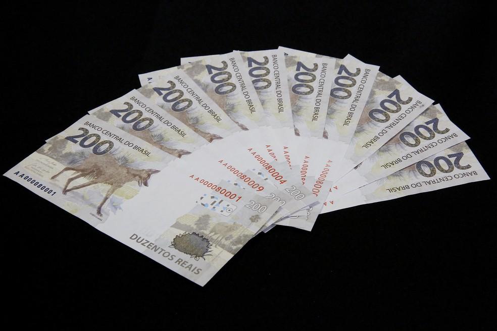 O Banco Central (BC) lançou nesta quarta-feira (02/09) a nova nota de R$ 200,00 com a imagem do lobo-guará — Foto: Raphael Ribeiro/BCB