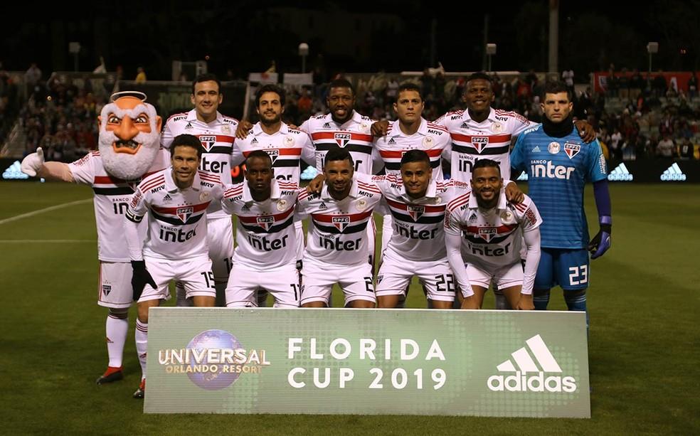 Primeira formação do São Paulo em 2019 — Foto: Rubens Chiri / saopaulofc.net