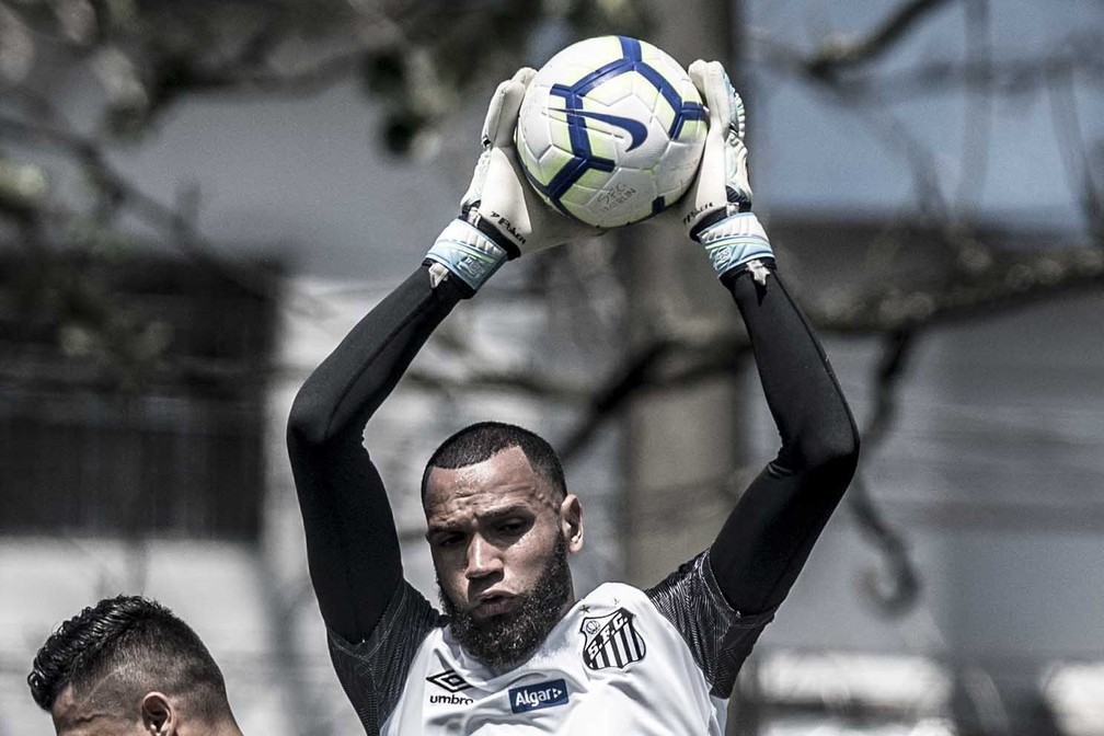 Everson, goleiro do Santos — Foto: Ivan Storti/Santos FC