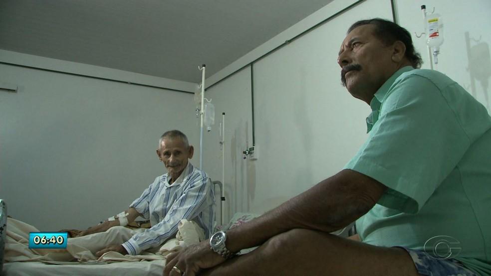 Irmãos se reencontraram 50 anos depois no HGE, em Maceió (Foto: Reprodução/TV Gazeta)