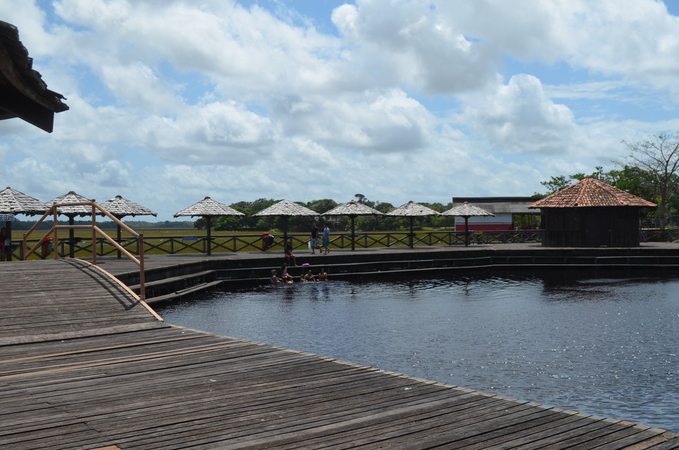 Balneário do Curiaú fica localizado na Zona Norte de Macapá (Foto: Jorge Abreu/G1 )