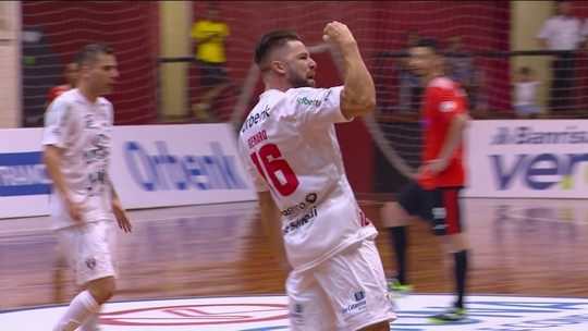 Os gols de Joinville 1 x 1 Carlos Barbosa pela Liga Nacional de Futsal 2018