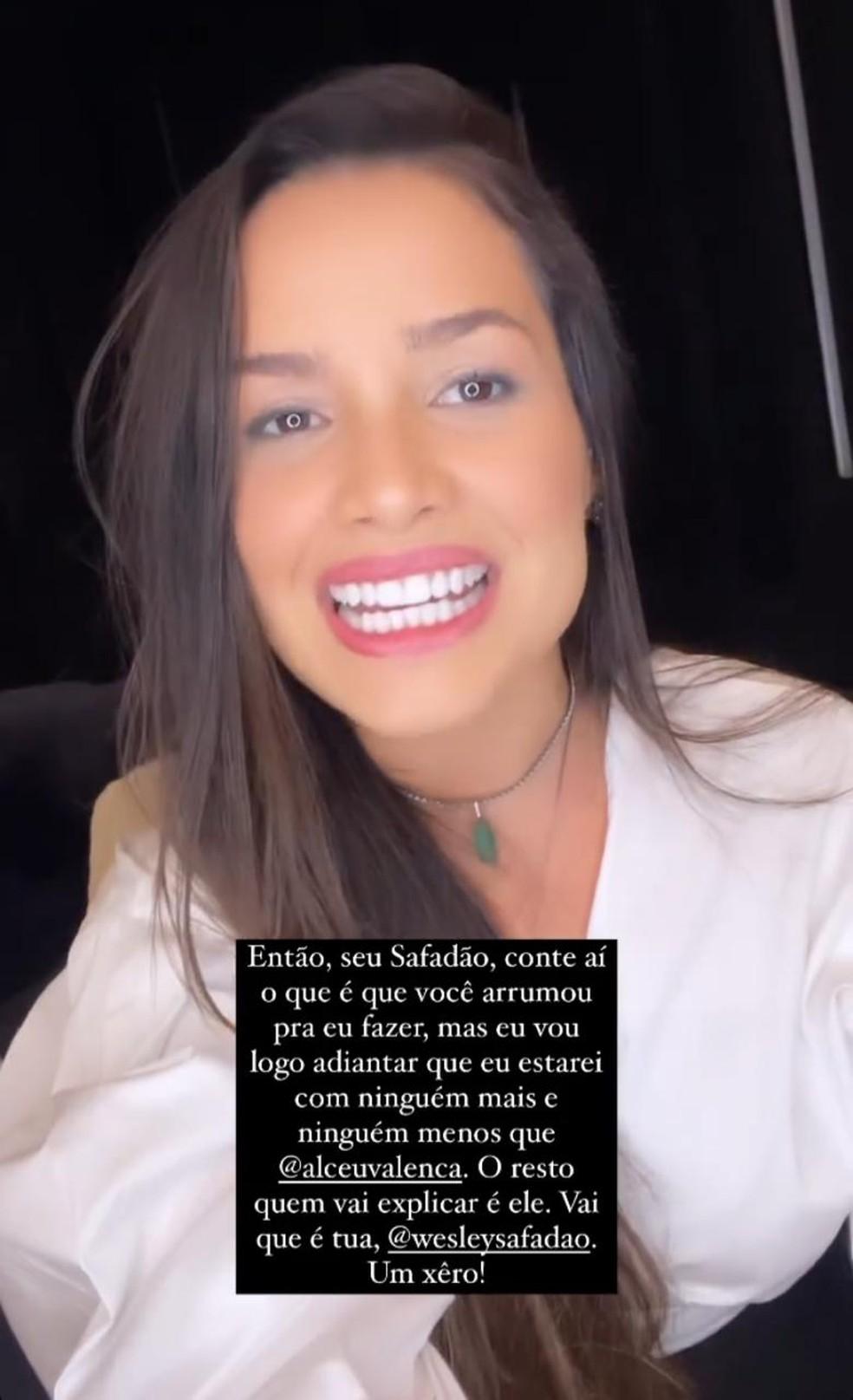 Juliette confirma presença em live de Wesley Safadão, com Alceu Valença  — Foto: Reprodução/Instagram
