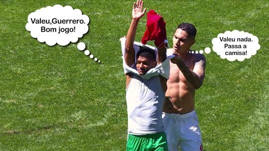 """Guerrero """"arranca"""" camisa de Márcio Araújo após Inter x Chape; veja o vídeo"""