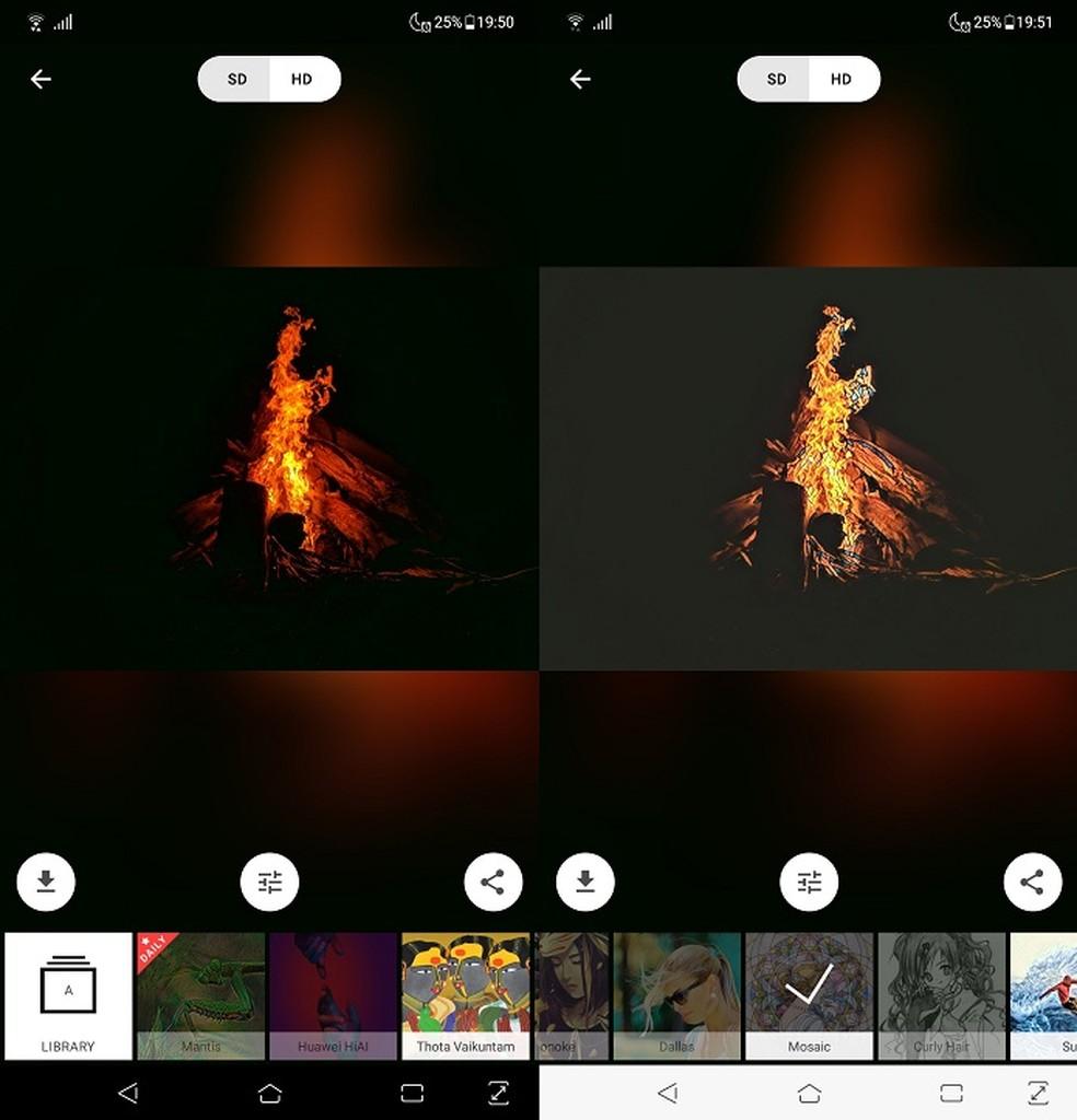 O Prisma transforma suas fotos em obras de arte com um só clique — Foto: Fernando Telles/TechTudo