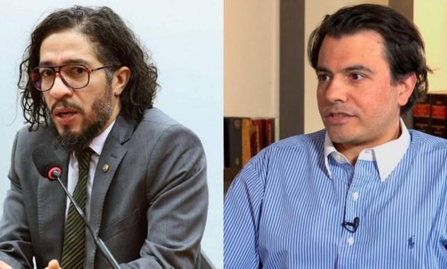 ex-deputado Jean Wyllys e o empresário Otávio Fakhoury