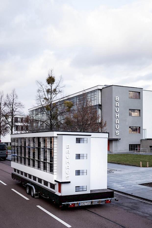 Ônibus inspirado na Bauhaus fará tour em homenagem a centenário