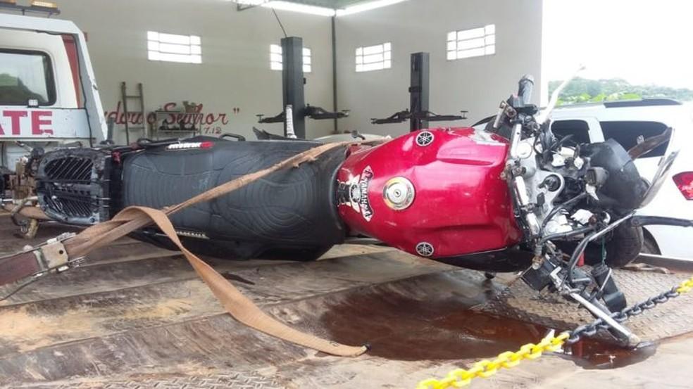 Três pessoas morreram em acidente de moto em Ouro Fino (MG) — Foto: Reprodução/EPTV