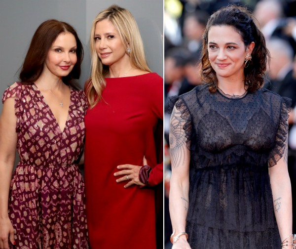 As atrizes Mira Sorvino, Ashley Judd e Asia Argento (Foto: Getty Images)