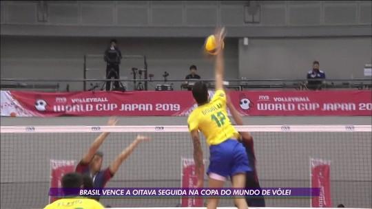 Brasil garante oitava vitória consecutiva na Copa do Mundo de vôlei