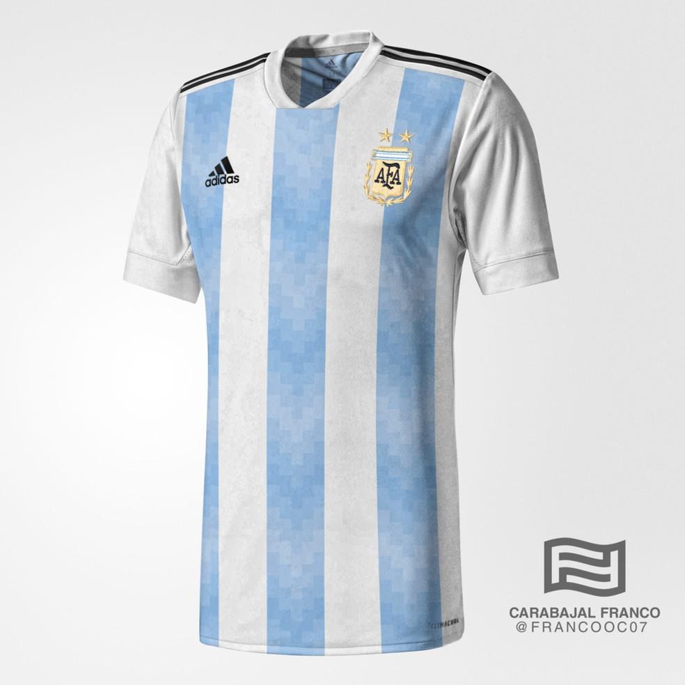 Suposta camisa da Argentina para a Copa do Mundo (Foto: Reprodução / Todo Sobre Camisetas)